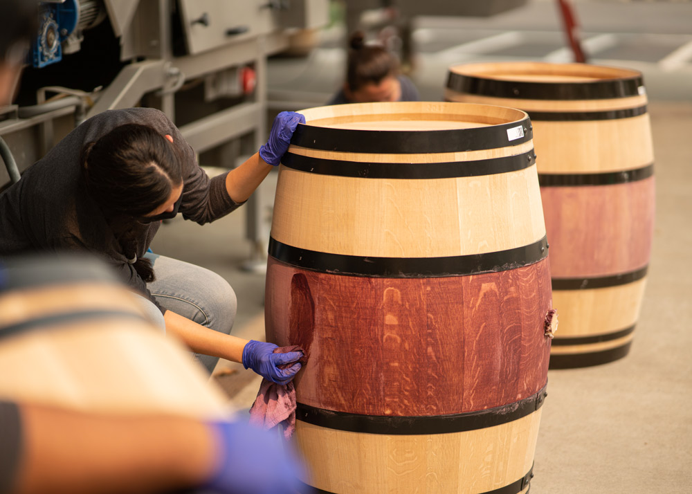 B Cellars Barrel Staining